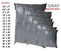 100 x STRONG  GREY POSTAL MAILING BAGS POLY MAILER POSTAGE BAGS All Sizes CHEAP