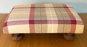 Handmade Prestigious Textiles Munro Tartan Check Footstool