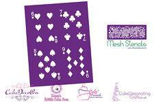Printing Mesh Stencil | Playing Card 6 7 8 9  | Cake Decorating Craft Cupcakes
