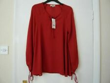 Red Long Sleeve Basic Tops & Shirts for Women