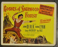 ROGUES OF SHERWOOD FOREST 1950 ORIG 22X28 MOVIE POSTER JOHN DEREK DIANA LYNN