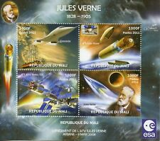 Mali 2011 MNH Launch ATV Jules Verne Ariane Concorde 4v M/S Space Stamps