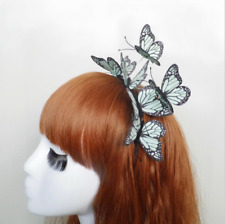 NEW Stunning Black & Turquoise 3D Butterfly Head Band, UK Seller