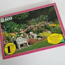 Milton Bradley Croxley 500 Pcs Sunken Perennial Garden Puzzle 10 to Adult  New!