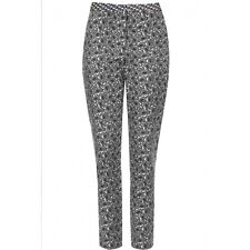 New Topshop Paisley Cigarette Straight Leg Trousers. RRP £42 - Size 8