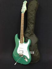 Haze E-211MLBL Electric Guitar,Sparkling Green+Free Gig Bag,Strap,Digital Tuner
