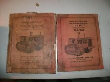 PAIR OF ALLIS-CHALMERS HD14C TRACTOR REPAIR PARTS LIST INSTRUCTION BOOK VINTAGE