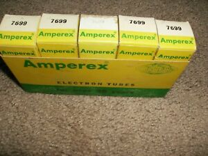 LOT OF 5 -  7699 AMPEREX PQ RADIO TUBES - NOS