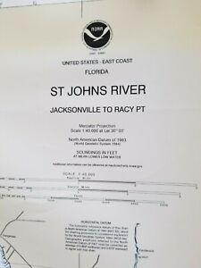 Nautical Chart 11492 WP NOAA St. Johns River Jacksonville to Racy Pt. Florida