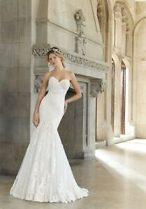 Mori Lee 2144 Size 12 GENUINE Ivory Wedding Dress Ivory With tags