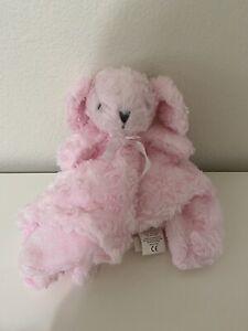Blankets and Beyond Pink Shaggy Bunny Rabbit Nunu Lovey Lovie Security Blanket
