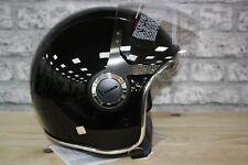 Vespa VJ Black Motorcycle Helmet