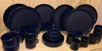 Vintage Pfaltzgraff Cobalt Blue Dinnerware Lot Of 22