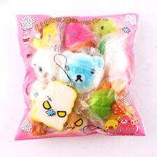 10PCS Cute Squishy Jumbo Medium Mini Soft Phone Straps Gift Package Random Ship