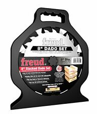 "NEW FREUD SD208S ""PRO DADO"" TITANIUM CARBIDE 8"" SAW BLADE KIT 8"" SET NEW IN CASE"