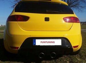 Auspuff Sportauspuff für Seat Leon 1P R FR Cupra R32 Duplex Endschalldämpfer ESD