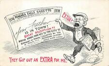 NIAGARA FALLS GAZETTE NEWSPAPER NEW YORK COMIC POSTCARD 1909