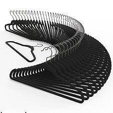 """120PC Slim Space Saving Non-slip Velvet Velour Black  Hangers 17.7"""", 18"""""""