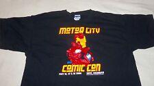 2008 MOTOR CITY COMIC CON Shirt  XL -Novi , Michigan - IRON MAN MARVEL DC BATMAN