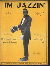 I'm Jazzin in the Key of F 1920 Bert Williams Sheet Music