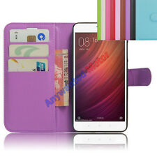 "Folio PU Leather Card Slot Stand Cover Case Wallet for 5.5"" Xiaomi Redmi Note 4"