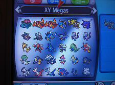 All 48 Mega Evolution Shiny Pokemon Omega Ruby Alpha Sapphire ORAS XY 3DS 6 IV