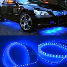 4Pcs Blue Body Glow Kit Neon LED Lighting Undercar Underbody Strips For Ford