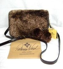 Patricia Nash Leather Crossbody Handbag Brown Sherpa Fur Bari Purse $229