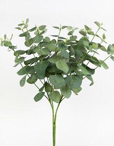 Eukalyptusbusch 45cm grün ZF Kunstzweige künstlicher Busch Eukalyptus