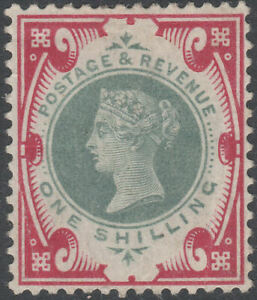 1900 JUBILEE SG214 1s GREEN & CARMINE MINT HINGED K41