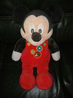 Doudou Peluche Disney Nicotoy Mickey Rouge Noir 59 cm