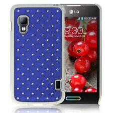 HardCase Bling Diamond für LG E455 Optimus L5 II Dual blau Rückschale Case Hülle