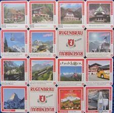 Bierdeckel Serie Sammlung - Schweiz - Rugenbräu Interlaken - 14 verschiedene