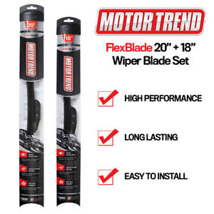 "Windshield Wiper Blades 20"" & 18"" fits Toyota Corolla Motor Trend Bracketless"