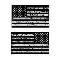 Distressed USA American Flag Vinyl Car Decal Sticker Jeep Hood Grunge MS 083
