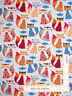 Animal Fabric -  Fox Sly Foxes Foxy Blue Toss Timeless Treasures C3804 - Yard