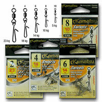 Rolling Swivel With Hanging Snap Sea Fishing Tackle Links Pike Carp Trout