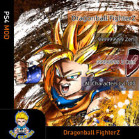 Dragon Ball FighterZ (PS4 Mod)- Max Zeni/Z Coin/All Characters Lvl 100