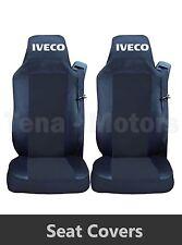 2 x IVECO STRALIS Coprisedili Fatti su misura HGV Camion Furgone Nero / nero LHD