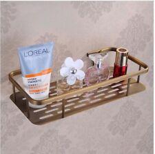Antique Brass Bathroom Accessory Soap / Sponge Shower Storage Basket Fba107