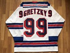 NEW YORK RANGERS WAYNE GRETZKY NHL ICE HOCKEY SHIRT JERSEY RARE VINTAGE