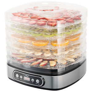5 Tray Food Dehydrator Height Adjustable Fruit Dryer Meat Jerky Herbs BPA-Free