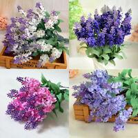 Lavender Fake Flower Garden Plant Home Decor 10Pcs Bouquet Artificial Silk DIY