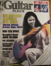 GUITAR PLAYER MAGAZINE FEBRUARY 1985 MICHAEL HEDGES UPCHURCH HELLBORG SOUNDPAGE
