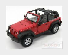 Jeep Wrangler Rubicon Soft-Top Closed 2007 Red Black WELLY 1:24 WE22489R