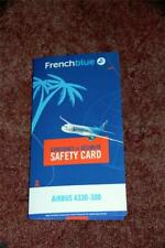 FRENCH BLUE AIRBUS A330-300 SAFETY CARD