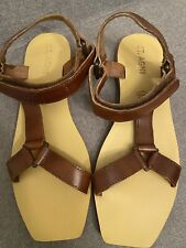 St Agni Sandals Leather Strappy size 39 8 1/2 Brown