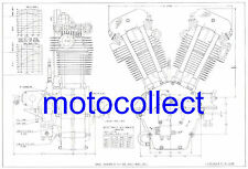 J.A.P Twin Cylinder Engine..Factory Drawing..A3 Print..Free Postage Worldwide