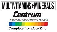 Centrum Multivitamins Men Women Men 50+ Women 50+ WORLD'S NO.1 VITAMINS Pfizer