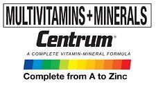 Centrum Multivitaminas Hombre Mujer Hombre 50+ mujeres 50+ del mundo NO.1 vitaminas Pfizer